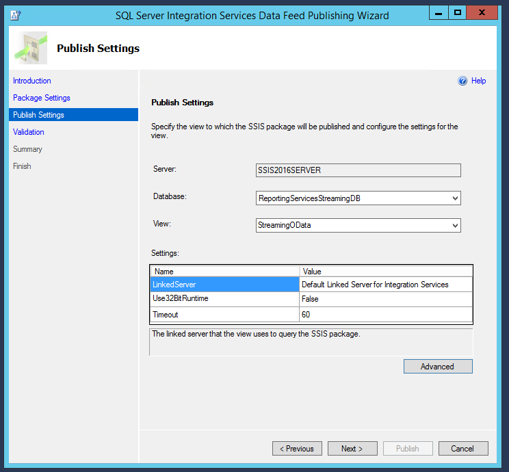 How to use SSIS to enable oData and other data sources in SQL Server
