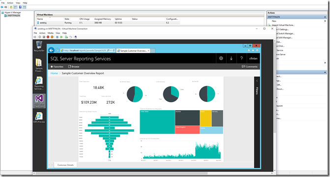 How to run the Technical Preview of Power BI Reports in SQL